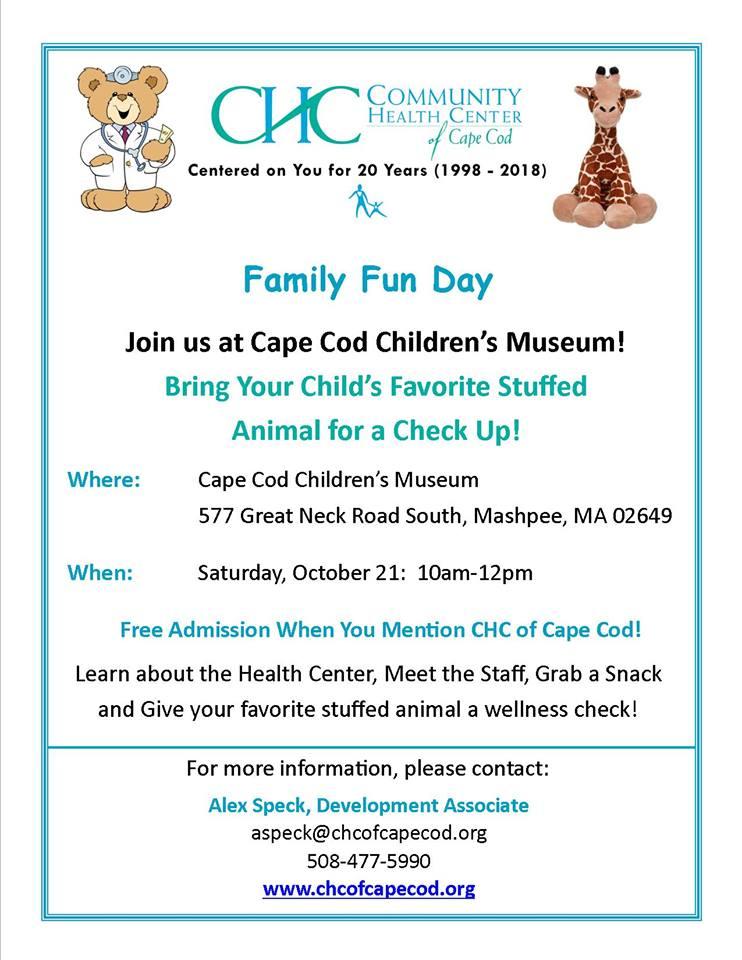 Family Fun Day @ Cape Cod Children's Museum