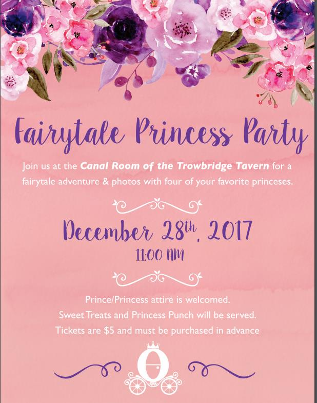 Fairytale Princess Party @ Trowbridge Tavern and Canal Club