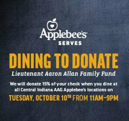 Applebee's Dining to Donate for Lt. Aaron Allan Family Fund @ Applebee's