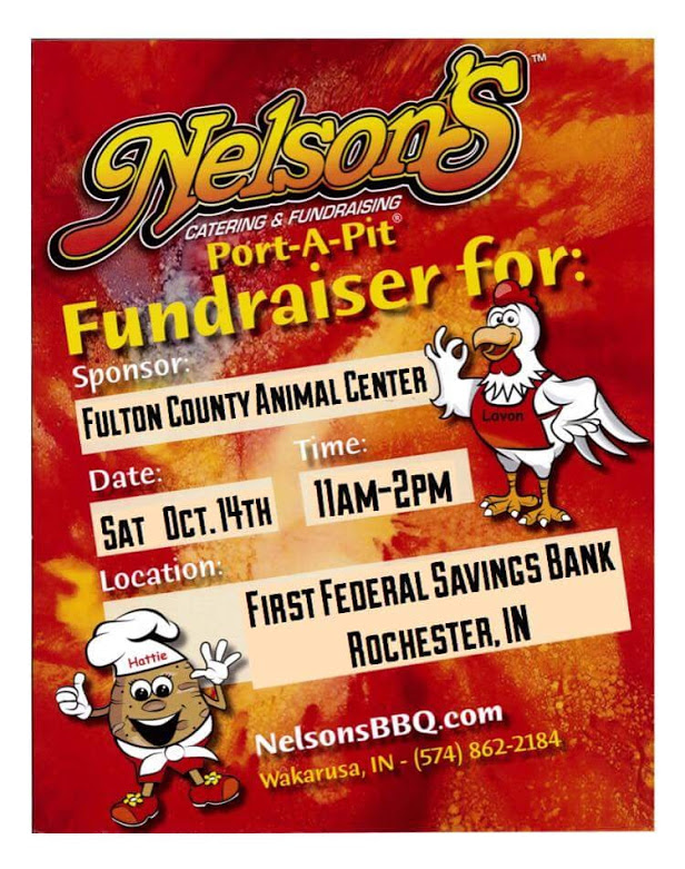 Nelson's Port-A-Pit Fundraiser for Fulton County Animal Center @ First Federal Savings Bank