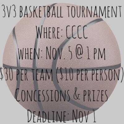 3v3 Basketball Tournament @ Carroll County Community Center