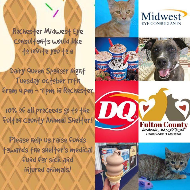 Dairy Queen Sponsor Night for Fulton County Animal Center @ Rochester Dairy Queen