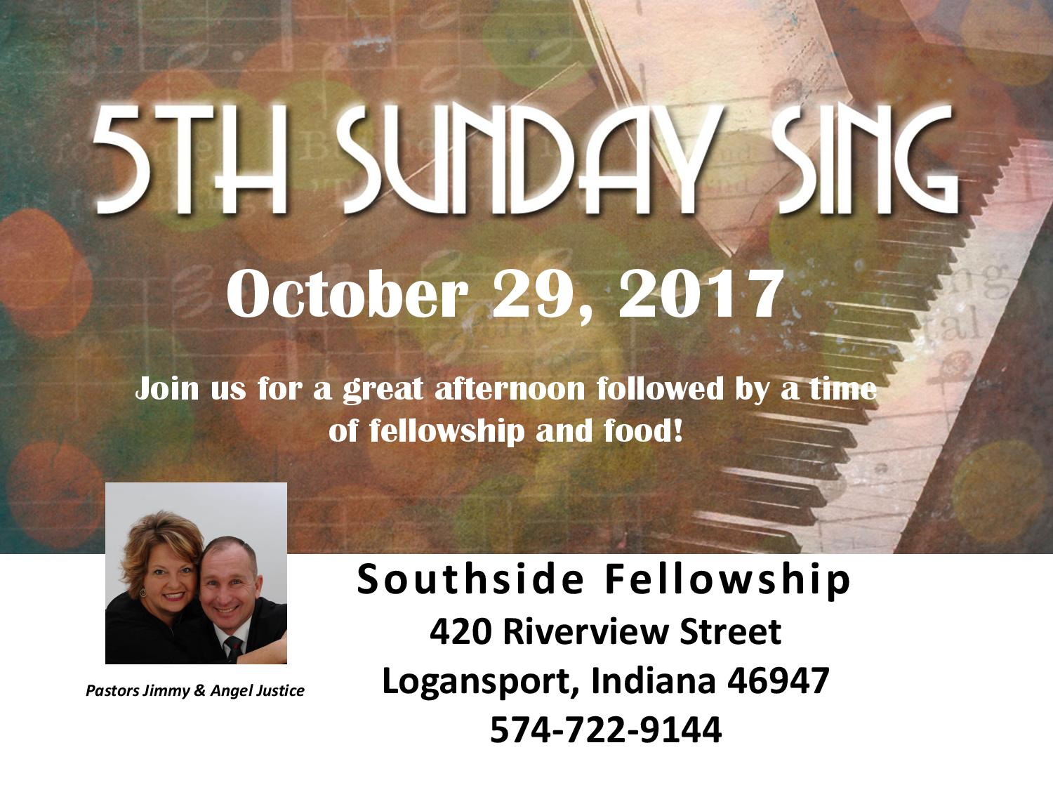 5th Sunday Sing @ Southside Fellowship